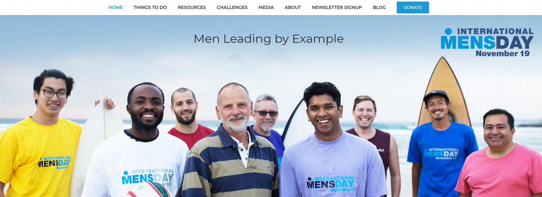 International Men's Day.com website link